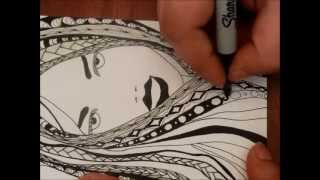 getlinkyoutube.com-Another Girl with Zentangle Hair