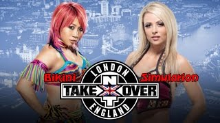 Asuka vs. Emma  - WWE2K16 Bikini Match | NXT Takeover London Simulation Match