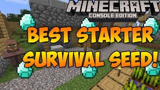 getlinkyoutube.com-Minecraft Xbox & PS3: Best Starter Seed for Survival! | Tons of Blacksmiths & Temples!