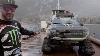getlinkyoutube.com-Monster Energy: KEN BLOCK SHOWCASES HIS FORD F-150 RAPTORTRAX