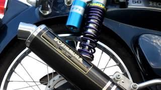 getlinkyoutube.com-スーパーカブ50 88cc ヨシムラ サイクロン 排気音