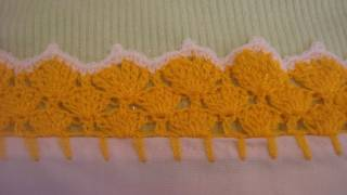 getlinkyoutube.com-Orilla tejida Amarilla # 12 Servilletas