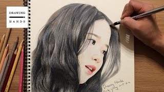 getlinkyoutube.com-아이유 그림 그리기 (Speed Drawing IU) [Drawing Hands]