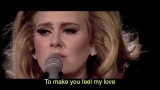 getlinkyoutube.com-Adele - Make You Feel My Love (w/ lyrics)