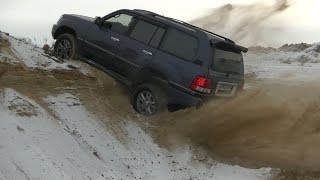 getlinkyoutube.com-Lexus LX 470 - Даём жару Лексусу в песчаном карьере