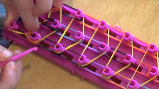 getlinkyoutube.com-How to make a crazy loom bracelet waterfall