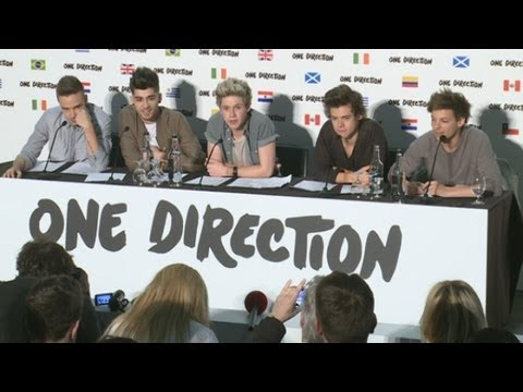 One Direction announce world stadium tour and talk thongs, football and new album