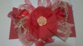getlinkyoutube.com-Como hacer una tiara de fiesta  para bebe con un bonito moño No. 33