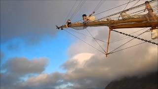 getlinkyoutube.com-Into the world 2015 - Jumping from the Bark Europa at Tristan da Cunha