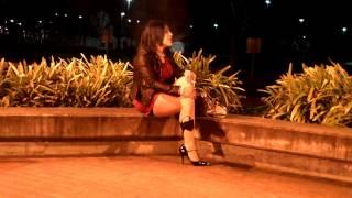 getlinkyoutube.com-....Crossdresser night out red dress 4....