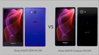 getlinkyoutube.com-Sharp AQUOS ZETA SH 01H vs Sharp AQUOS Compact SH 02H comparison