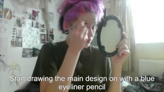 getlinkyoutube.com-Sylwia Suicide Room/ Sala Samobójców makeup tutorial pt.1