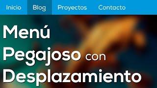 getlinkyoutube.com-Como hacer un menú pegajoso / sticky menu con HTML, CSS y Javascript