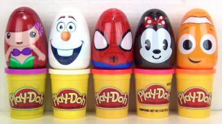 getlinkyoutube.com-Rolly Polly BUBBLE BATH & Playdoh Minnie Mouse, Disney Frozen Olaf, Ariel, Spiderman, Nemo / TUYC