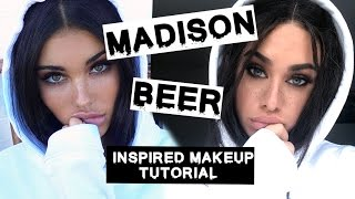 getlinkyoutube.com-Madison Beer Inspired makeup tutorial with Faux Freckles