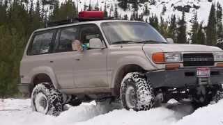 getlinkyoutube.com-Toyota Land Cruiser OffRoad: Snow Wheeling Red Lodge Montana