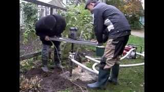 getlinkyoutube.com-Малогабаритная буровая установка для бурения скважин на воду.Гидробурение