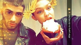getlinkyoutube.com-Gigi Hadid Newest Snapchat Video Ft Zayn , Bella Hadid , Anwar Hadid , Kendall Jenner And More