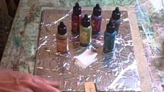 getlinkyoutube.com-tin foil alcohol ink technique