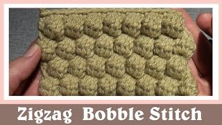 getlinkyoutube.com-Crochet Zigzag Cluster Bobble Stitch