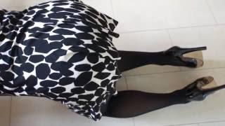 getlinkyoutube.com-Pantyhose flashing tease