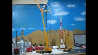 getlinkyoutube.com-LIEBHERR LTM 1300/1 AND 1050-3.1 ASSEMBLING (POTAIN MTD 178 TOWER CRANE)