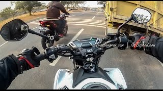 getlinkyoutube.com-Drag race Honda new CB150R vs Yamaha new Vixion Advance 2015