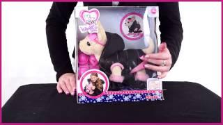 getlinkyoutube.com-Chi Chi Love. Плюшевая собачка Чихуахуа в пуховичке, с лыжами, в ботинках и лыжных очках, 20 см.
