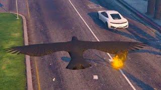 getlinkyoutube.com-GTA 5 PC Mods Crow Throwing Molotov Cocktails