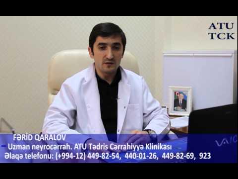 saglamTV. Ferid Qaralov.Uzman-Neyrocerrah. Onurğa ve baş beyin patologiyaları.