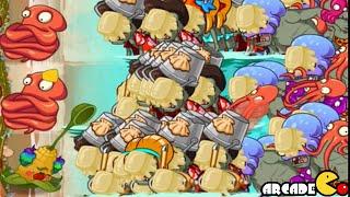 getlinkyoutube.com-Plants Vs Zombies 2: Big Wave Beach Tiki Torch-er Level 95 Too Much Butter
