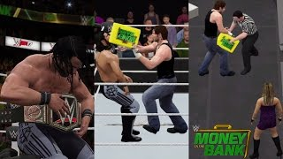 getlinkyoutube.com-WWE 2K17 Recreation: Dean Ambrose Cashes in on Seth Rollins (Money in the Bank 2016) -PS4/2K16 Mods)