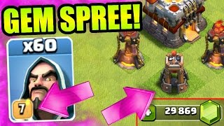 getlinkyoutube.com-Clash Of Clans - GEMMING THE NEW UPDATE!! - BUYING NEW DEFENSE , NEW TROOP LEVELS + MORE!
