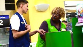 getlinkyoutube.com-Pretending To Work At Walmart PRANK