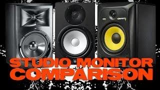getlinkyoutube.com-JBL LSR305 Yamaha HS5 and KRK RP5G3 Comparison Review