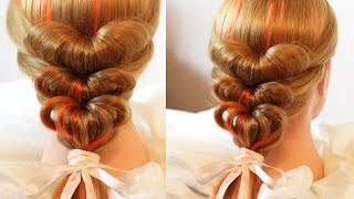 "getlinkyoutube.com-Коса с резинками - ""Сердечки"" - Hairstyles by REM"