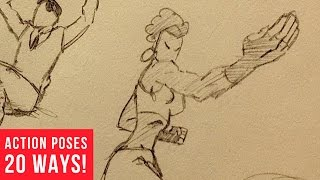 20 Ways Drawing Dynamic Action Poses