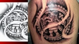 getlinkyoutube.com-AZTEC TATTOO DESIGNS - Mayan Aztec Inca Prehispanic Tattoo Designs WARVOX.COM