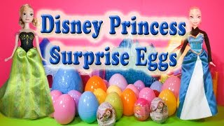 SURPRISE EGGS Disney Princess Elsa Anna Sofia Toys Surprise Eggs Video