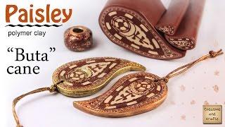 getlinkyoutube.com-Полимерная глина - Турецкий огурец в стиле менди (Polymer clay paisley cane) / Светлана Няшина