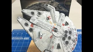 getlinkyoutube.com-Complete Build and review of the Bandai  1/144  Star Wars Millennium  Falcon The Force Awakens