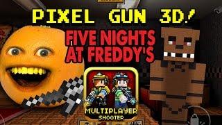 getlinkyoutube.com-Annoying Orange plays Pixel Gun 3D: FIVE NIGHTS AT FREDDY'S!