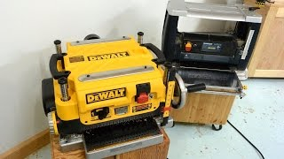 getlinkyoutube.com-DeWalt DW735 planer vs. a cheap one (review)