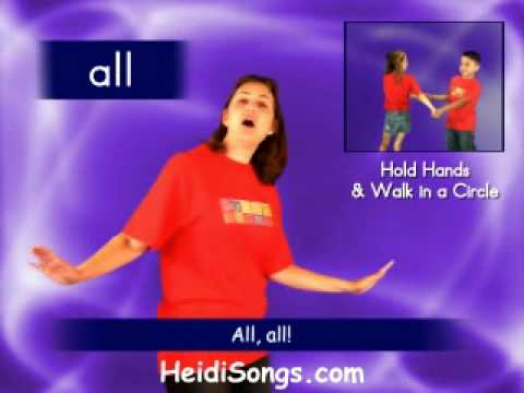 "HeidiSongs Sing & Spell Vol. 4 - All Song video sample - from ""Fun Songs for more Sight Words"""