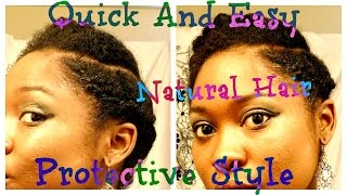 getlinkyoutube.com-Quick And Easy Protective Style for  Short/ Medium 4b/4c Natural Hair