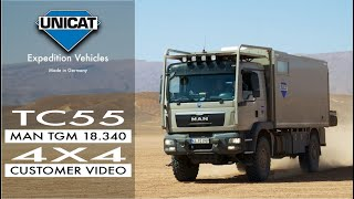 getlinkyoutube.com-Unicat Terracross TC55 confort Plus MAN TGM18.340 4X4