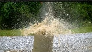 getlinkyoutube.com-Damage a 22 rifle hollow point can do at 80 yrds. Slow motion