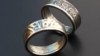 getlinkyoutube.com-Двухстороннее кольцо из монеты сверлом