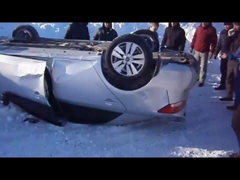 Жесть!! Смотреть всем!!! Авария Кия церато на зимних гонках в Новосибирске.