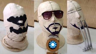 getlinkyoutube.com-#74: Last-Minute DIY Halloween Ideas - Tony Stark, Rorschach & Wolverine | How To | Dali DIY